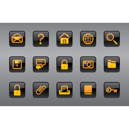 Vector icons website and Internet icons Easy to edit, manipulate, resize or colorize Vector