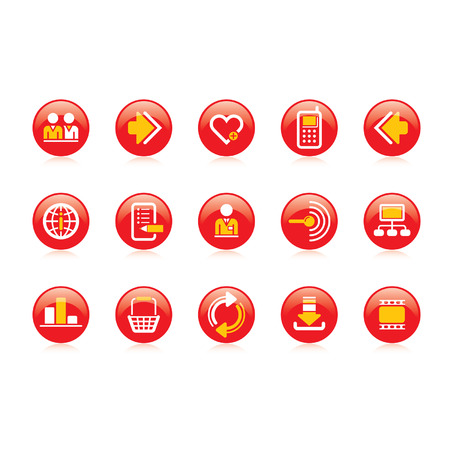 Vector website and internet icons    Easy to edit, manipulate, resize or colorize Vector