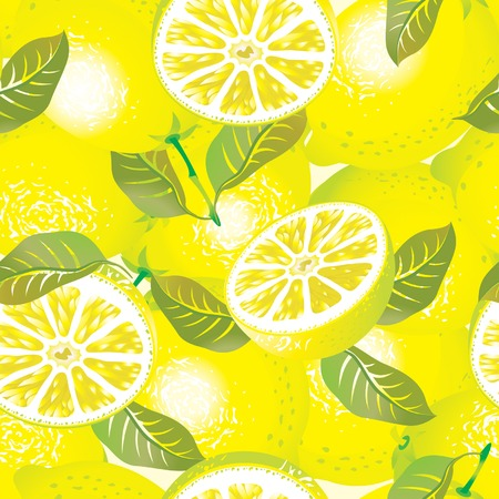 fragrant: Vector lemon background (seamless pattern)