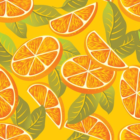 confiture: Vector seamless pattern with orange
