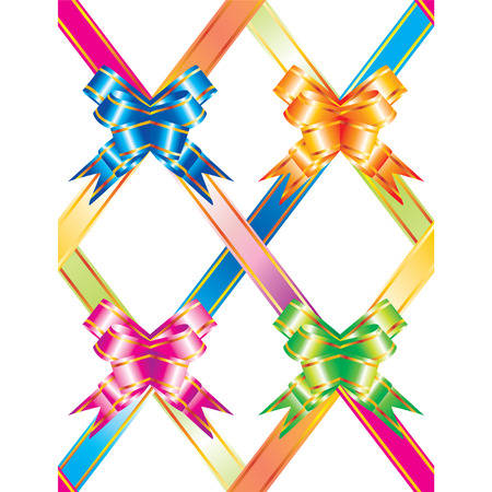 polychromatic: Vector background with multicolored ribbons