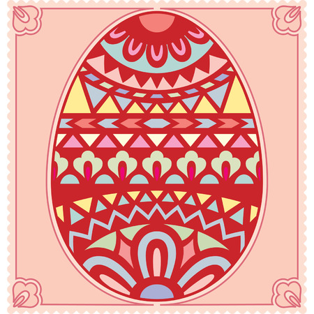 polychromatic: Vector card with a Easter egg