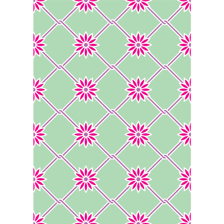 Vector spring background with a grid Stock Illustratie
