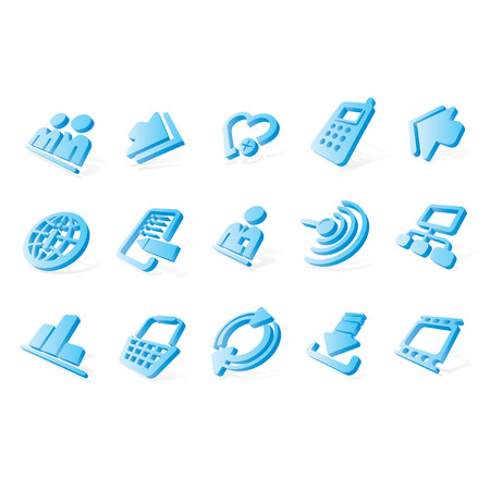 Vector blue website and internet icons Easy to edit, resize or colorize Stock Vector - 4369302