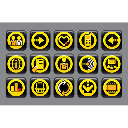 Vector website and internet icons Easy to edit and colorize Stock Vector - 4369289