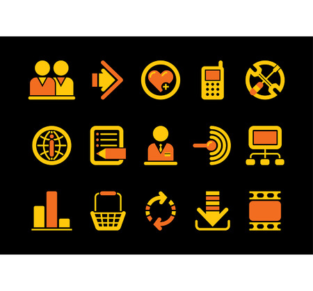Vector website and internet iconsEasy to edit, manipulate, resize or colorize Stock Vector - 4931185
