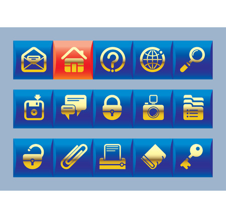 Vector website and internet icons Stock Vector - 4931186