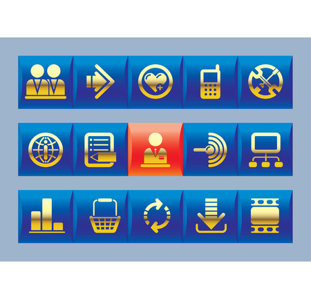 Vector website and internet icons Stock Vector - 4932825