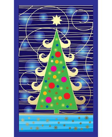 Vector Christmas card Stock Vector - 4935357