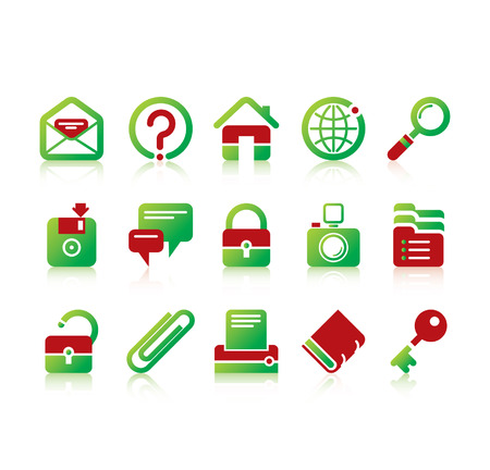 Vector website and internet iconsEasy to edit, manipulate, resize or colorize Stock Vector - 4935353
