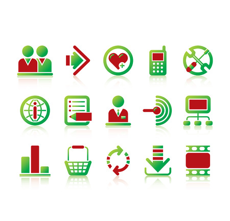 Vector website and internet iconsEasy to edit, manipulate, resize or colorize Stock Vector - 4935352