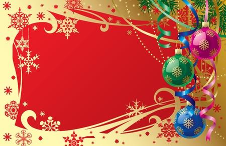 Vector Christmas & New-Year's card Stock Vector - 4940657