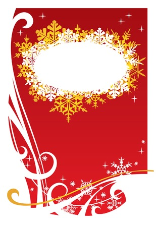 Vector red Christmas background Stock Vector - 4940650