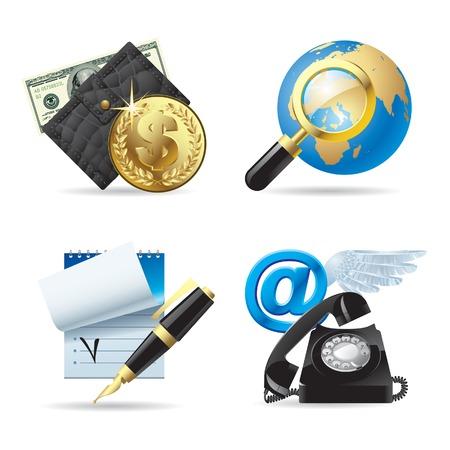Vector set of computer web icons I Vector