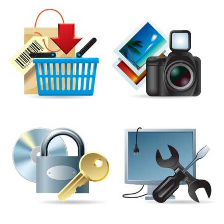 Vector set of computer & web icons II Vector