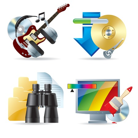 hard to find: Vector set of computer web icons III Illustration