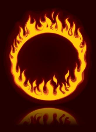 Vector fiery ring Stock Vector - 4940647