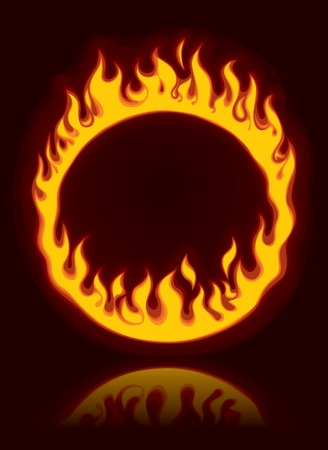 heated: Vector fiery ring