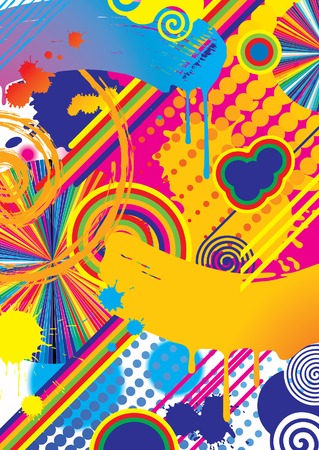 day dreaming: Vector multicolored abstract background