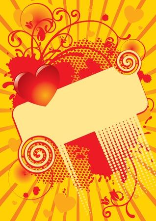 dappled: Vector valentine greeting card Illustration