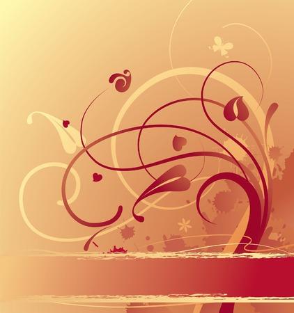 goldish: Vector goldish background Illustration