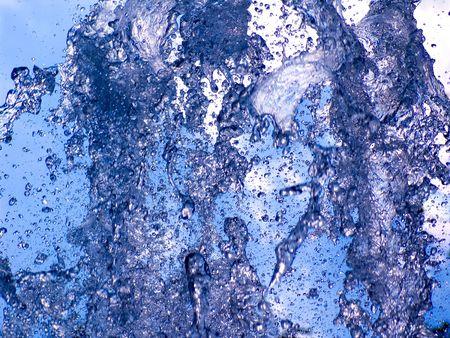 Gush of water photo