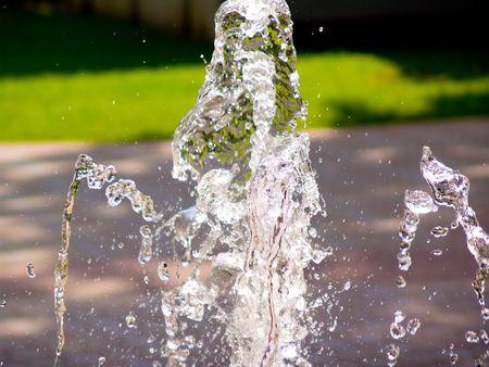 gush: Gush of water