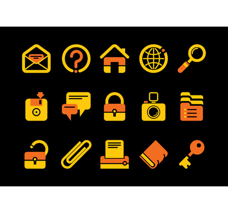 Vector website and internet iconsEasy to edit, manipulate, resize or colorize Stock Vector - 4957349