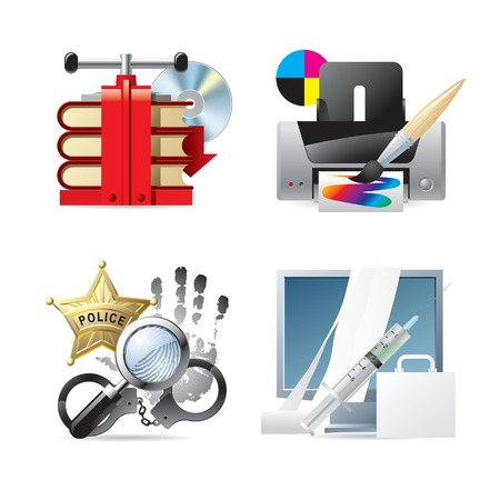 Vector set of computer & web icons V Stock Vector - 4967684