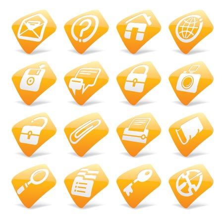 Vector orange website and internet icons 1 Illustration