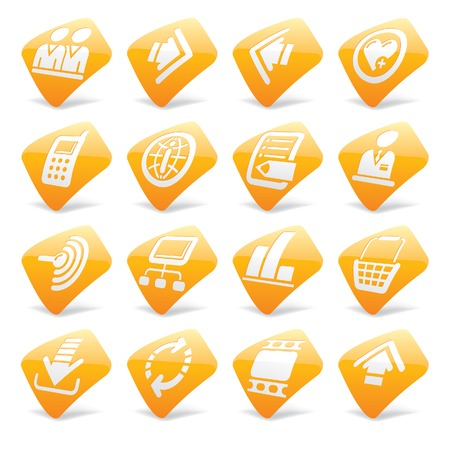 Vector orange website and internet icons 2