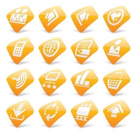 printout: Vector orange website and internet icons 2