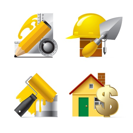 renewal: Vector building website and internet icons Illustration