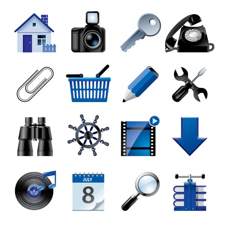 Vector blue website and internet icons 2
