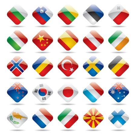 Vector set wereld flag icons 2