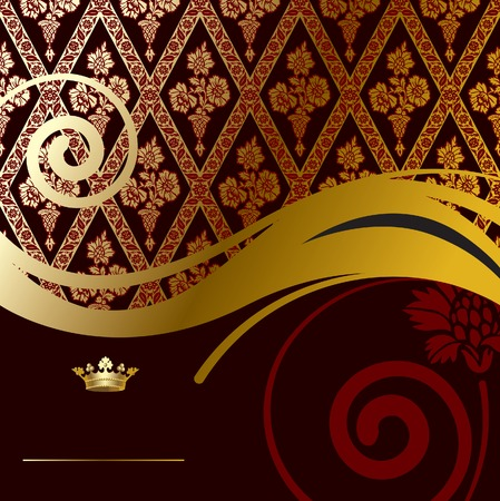 Vector gold baroque background Stock Vector - 4972259