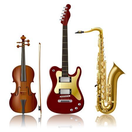 musical instruments: Instrumentos musicales vectoriales Vectores