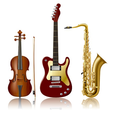 instruments de musique: Vector Musical Instruments Illustration