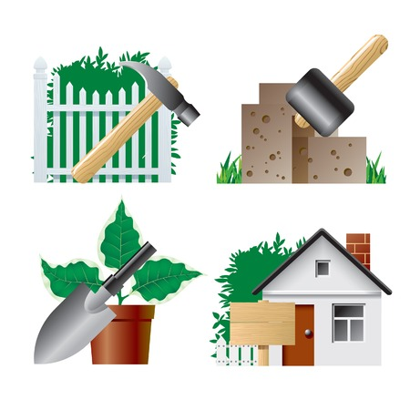 Vector landscaping icons 1 Vector