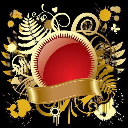 Vector round gold banner Stock Vector - 4972254