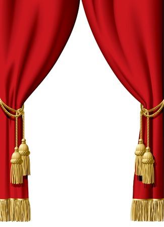 rideaux rouge: Vector rideau rouge