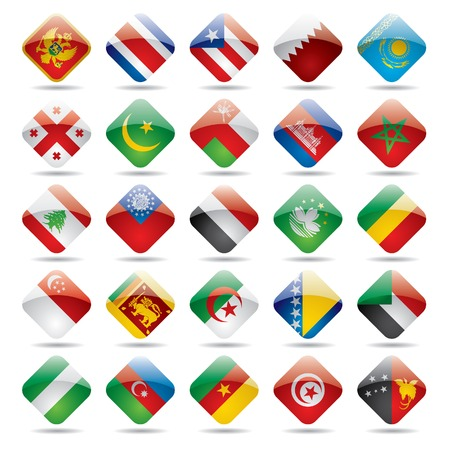 Vector set world flag icons 4 Redactioneel