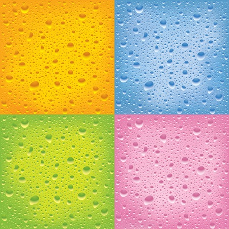 Vector set of wet surfaces Vector