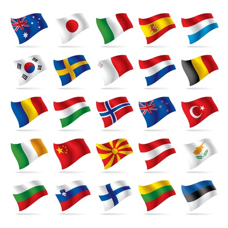 Vector set of world flags 2 Stock Vector - 4990546