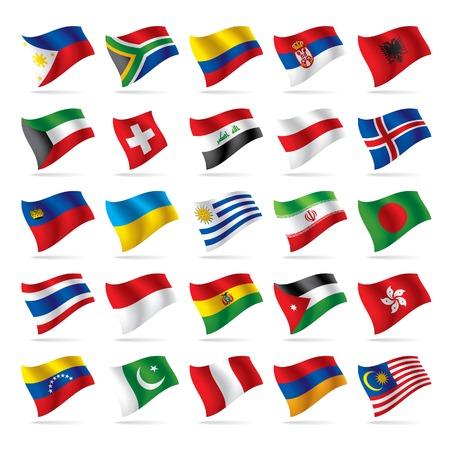 bandera peru: Vector conjunto de banderas mundo 3