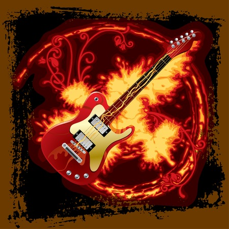 Vector fire electric guitar