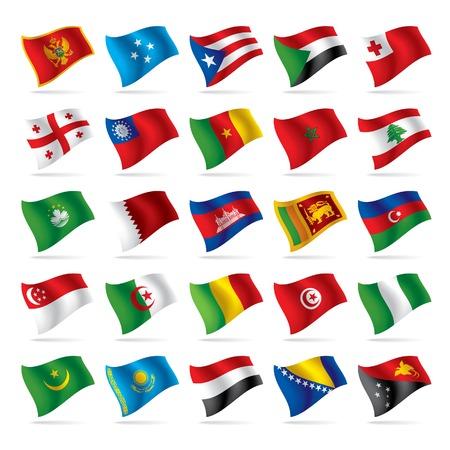 flags world: Vector conjunto de banderas del mundo 4