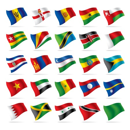 Vector set of world flags 5 Stock Vector - 4990553