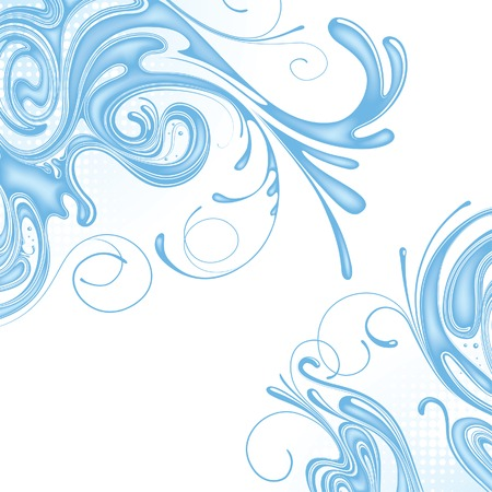 gush: Vector background of water