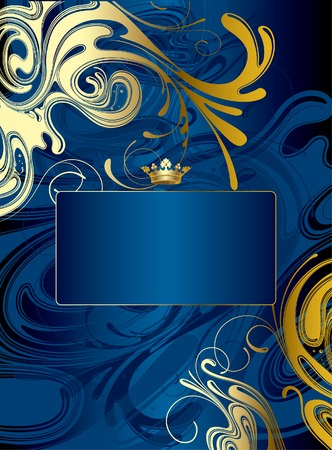 gush: Vector gold-blue abstract background Illustration